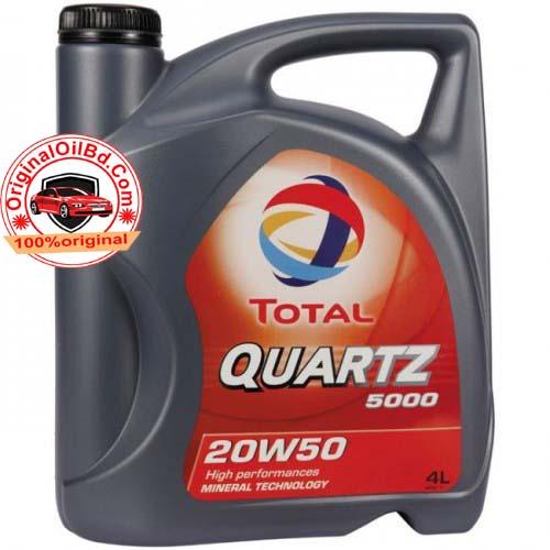 TOTAL QUARTZ 5000 SN 20W-50 MINERAL 4L