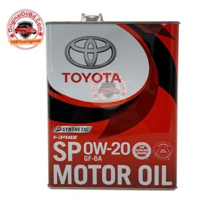 TOYOTA GENUINE ENGINE OIL SP 0W-20 SYNTHETIC